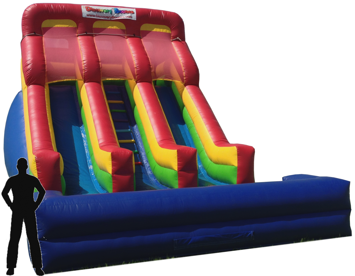 18ft Dual Lane Slide (wet)